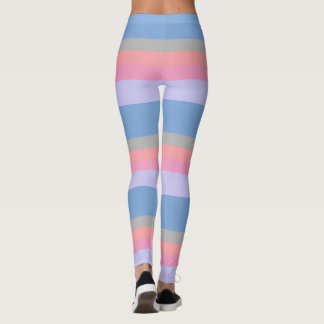 pastel pink coral grey blue purple color block leggings