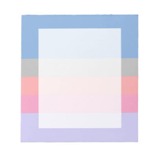 pastel pink coral grey blue purple color block notepad