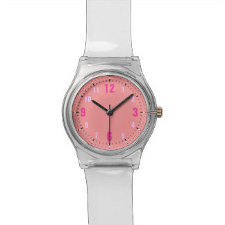 Pastel Pink Customizable Monotone Designer Watch