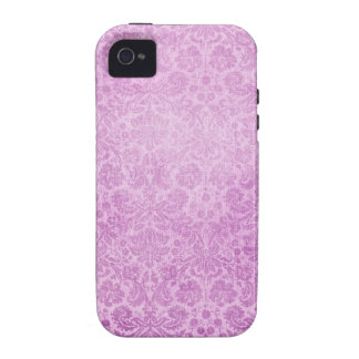 Pastel Pink Damasks Faded Pattern iPhone 4 Cover