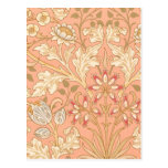 Pastel Pink Decorative Flowers Post Card