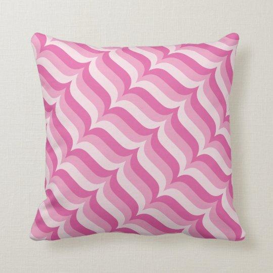 Pastel Pink Diagonal Stripes Pattern Cushion