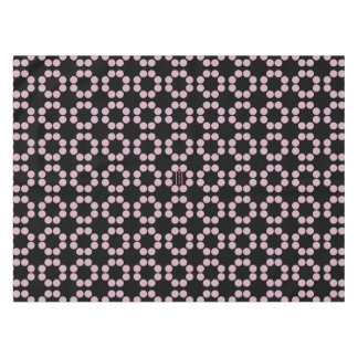 Pastel Pink Dots Rings Pattern Tablecloth