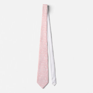 Pastel Pink Floral Paisley Damasks Wedding Tie
