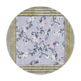 Pastel Pink Floral Pattern Cutting Board