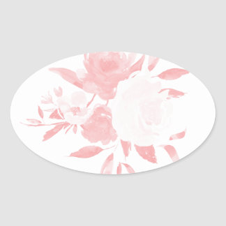 Pastel Pink Floral Watercolor Sticker