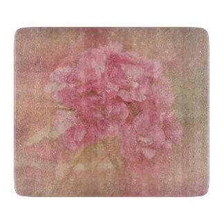 PASTEL PINK Flower - Glass Cutting Board