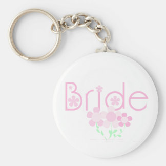 Pastel Pink Flowers Bride Key Chains