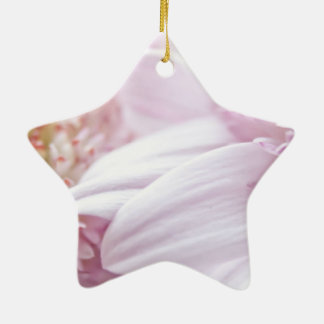 Pastel Pink Flowers Christmas Tree Ornaments