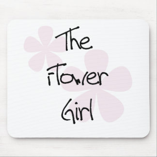 Pastel Pink Flowers Flower Girl Mouse Pad