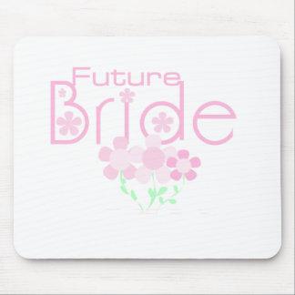 Pastel Pink Flowers Future Bride Mouse Pad