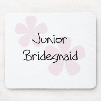 Pastel Pink Flowers Jr. Bridesmaid Mouse Pad