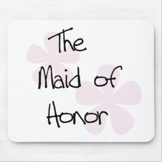 Pastel Pink Flowers Maid of Honour Mouse Pad