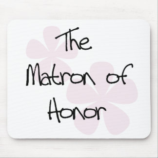 Pastel Pink Flowers Matron of Honour Mouse Pad