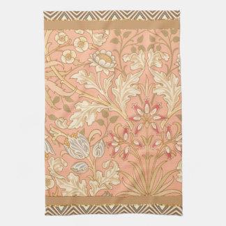 Pastel Pink Flowers Tea Towel