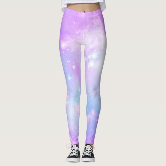 Pastel pink galaxy leggings