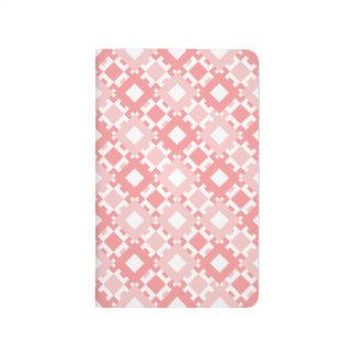 Pastel Pink Geometric Desig Pocket Notebook