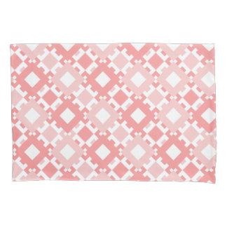 Pastel Pink Geometric Pattern Pillow Case Design