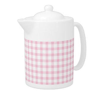 Pastel Pink Gingham Check Pattern