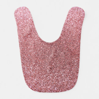 Pastel pink glitter baby bib