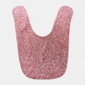 Pastel pink glitter bib