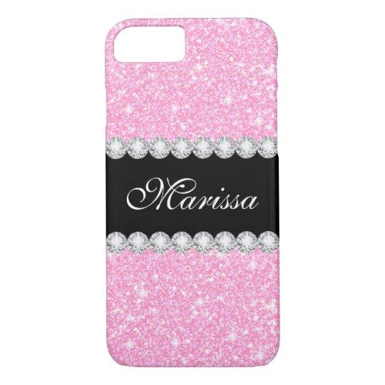 Pastel Pink Glitter Glam Case-Mate iPhone 8/7 Case