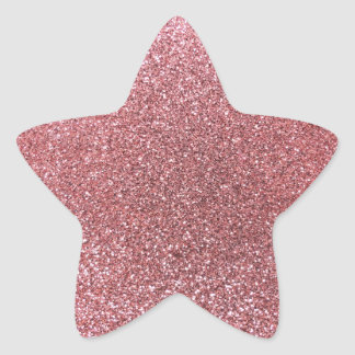 Pastel pink glitter star sticker