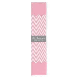 Pastel Pink & Grey Chevrons Baby Shower Collection