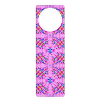 Pastel Pink Kaleidoscope Pattern Abstract Door Hanger