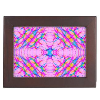 Pastel Pink Kaleidoscope Pattern Abstract Keepsake Box