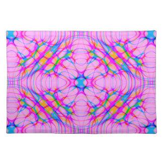 Pastel Pink Kaleidoscope Pattern Abstract Placemat
