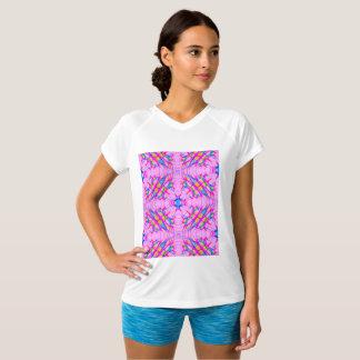 Pastel Pink Kaleidoscope Pattern Abstract T-Shirt