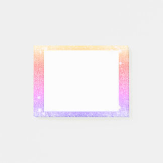 Pastel Pink Lavender Gold Glitter Sparkle Post-it Notes