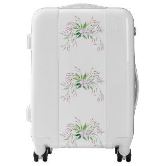 Pastel Pink Lavender Jasmine Flowers Green Leaves Luggage