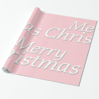 Pastel Pink Merry Christmas Wrapping Paper