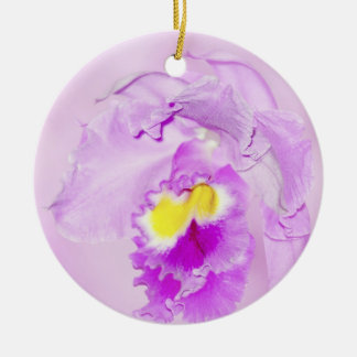 Pastel Pink Orchid Christmas Ornament
