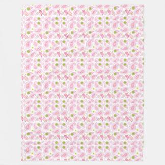 Pastel Pink Paisely Fleece Blanket