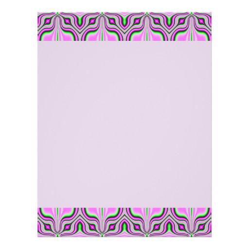 pastel pink pattern full color flyer