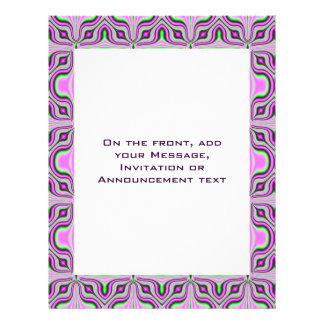 pastel pink pattern personalized flyer