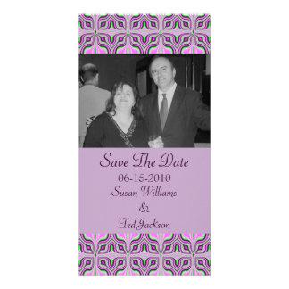 pastel pink pattern photo card template