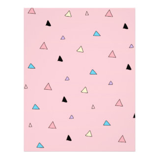 Pastel Pink Pieces Candy Chips Geometric Triangles Custom Flyer