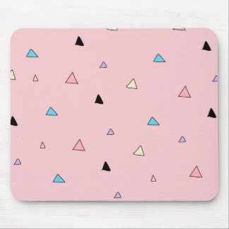 Pastel Pink Pieces Candy Chips Geometric Triangles Mouse Pad