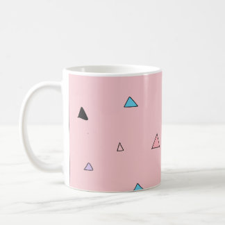 Pastel Pink Pieces Candy Chips Geometric Triangles Coffee Mug