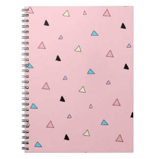Pastel Pink Pieces Candy Chips Geometric Triangles Note Books