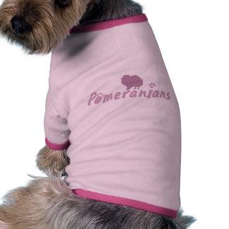Pastel Pink Pomeranian Ringer Dog Shirt