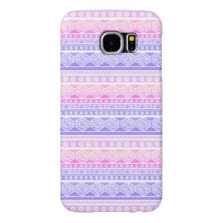 Pastel Pink Purple Girly Aztec Galaxy S6 Case