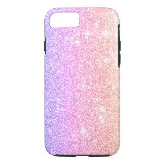 Pastel Pink Purple Glitter Shine Look iPhone 8/7 Case