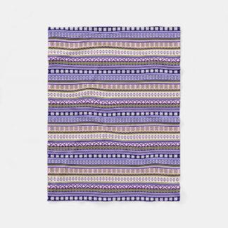 Pastel Pink & Purple Nordic Knit Snowflake Graphic Fleece Blanket