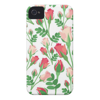 Pastel Pink Rosebuds iPhone 4 Cover