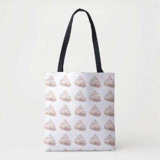 Pastel Pink Shell Spiral Tote Bag
